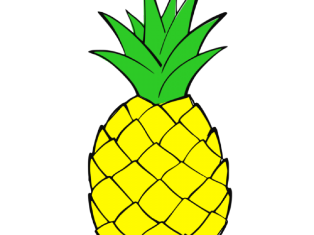 Huge pineapple. Clipart funky transparent