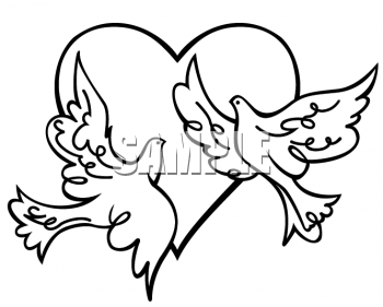 Hugging clipart doves. Of a two flying