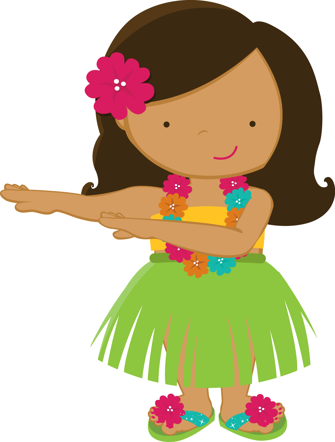 Hula girl png. Zwd yellow hibiscus minus