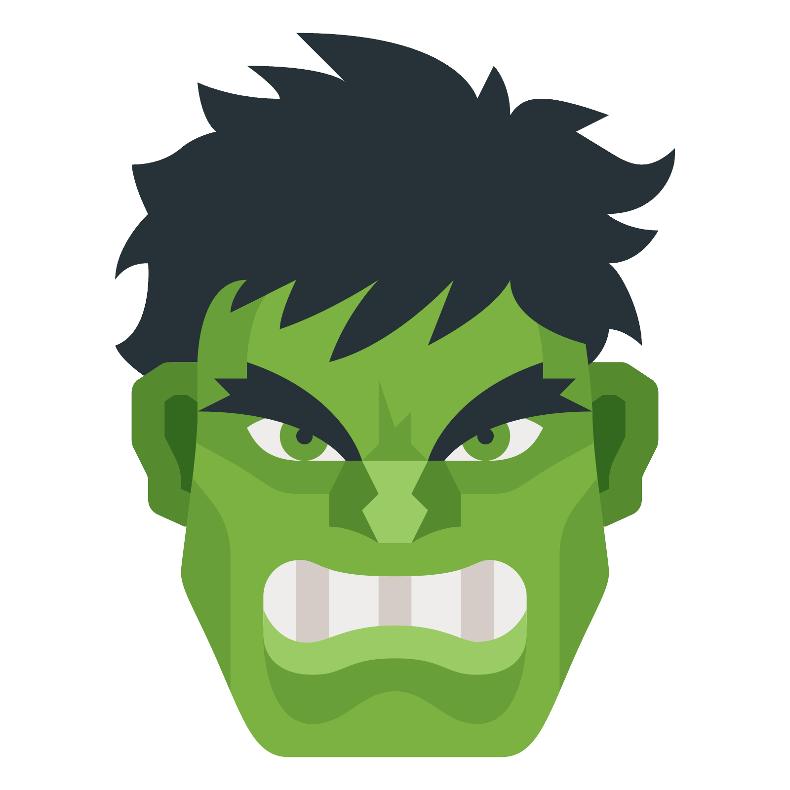 Hulk icon png. Free download and vector