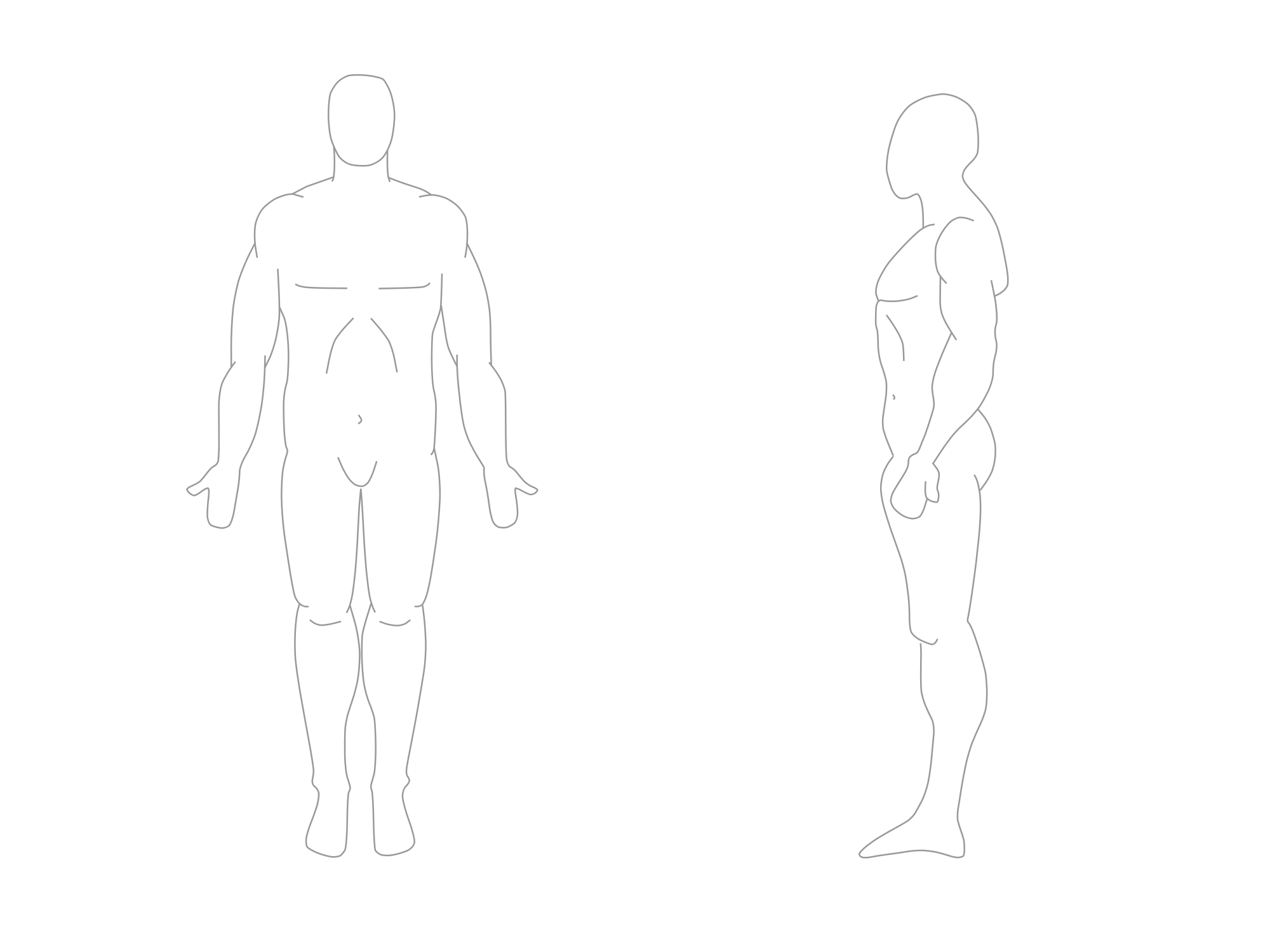 drawing position human body