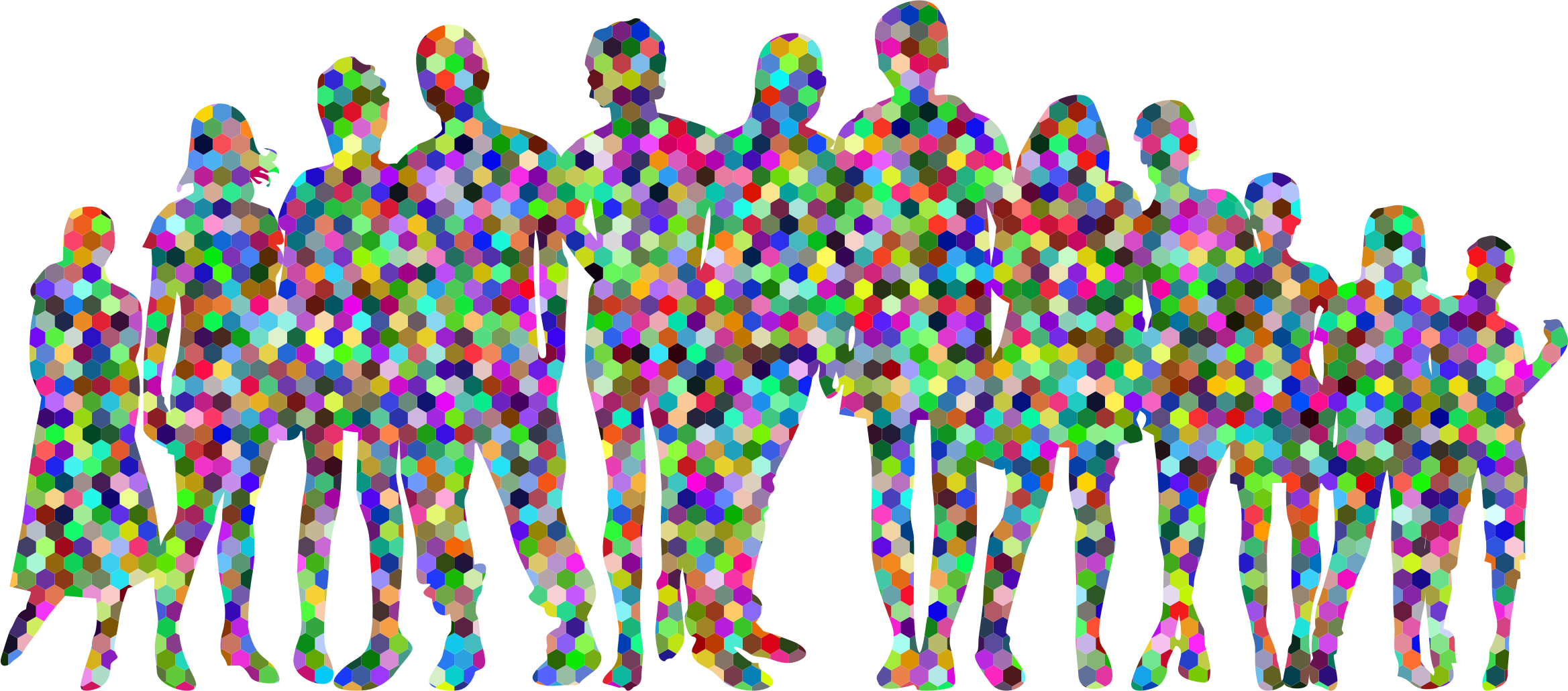 Human clipart human family. Prismatic hexagonal icons png