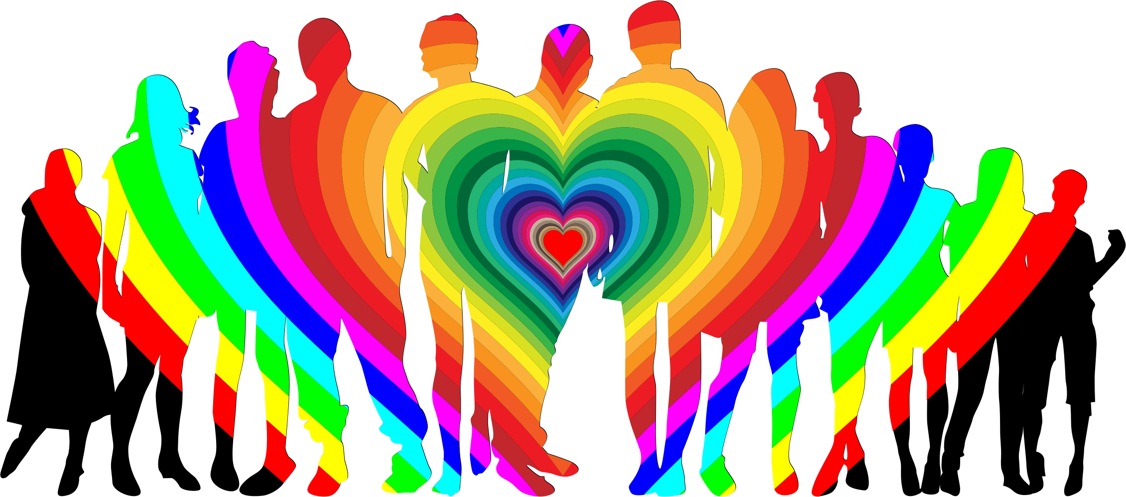 Human clipart human family. Prismatic love icons png