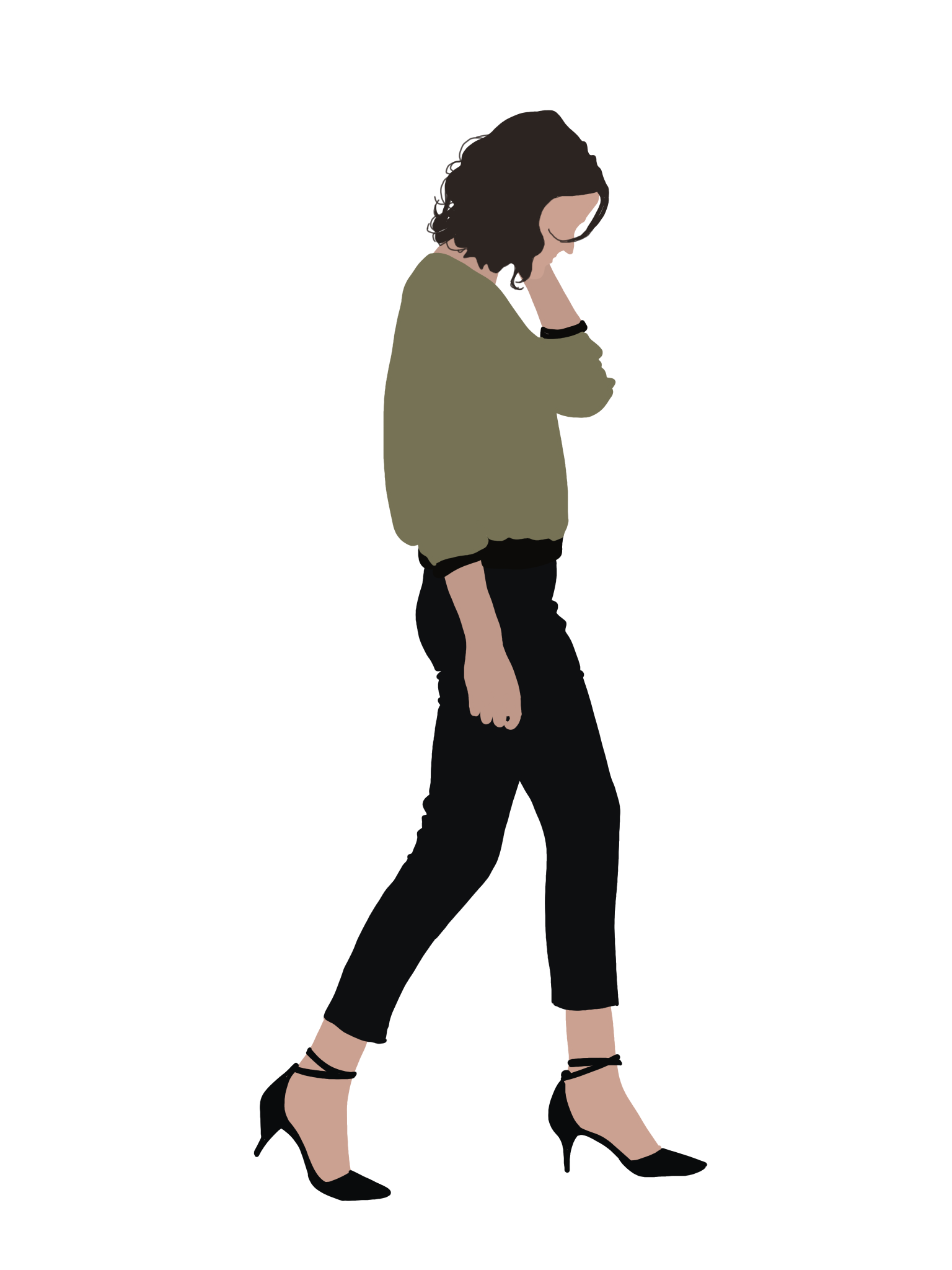 Human figure architecture png. People flat illustration on