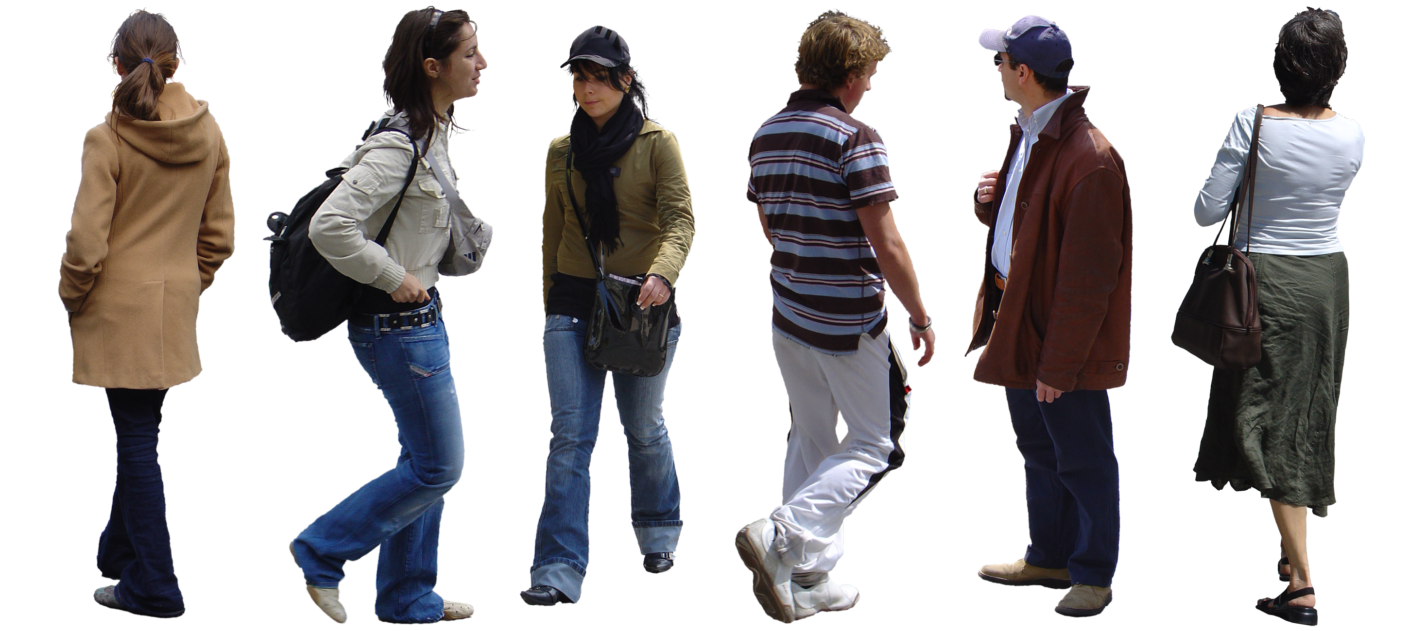 Scale figures png. Compositing people textures in