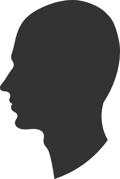 Head silhouette profile clip. Male vector side face jpg royalty free