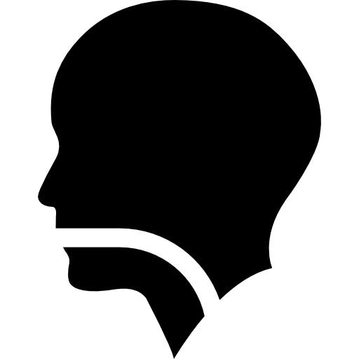Human head silhouette png. With a line in
