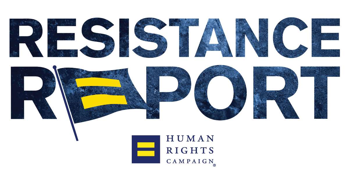 Human rights campaign png. The resistance report september