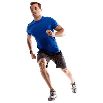 Human running png. Man to left transparent