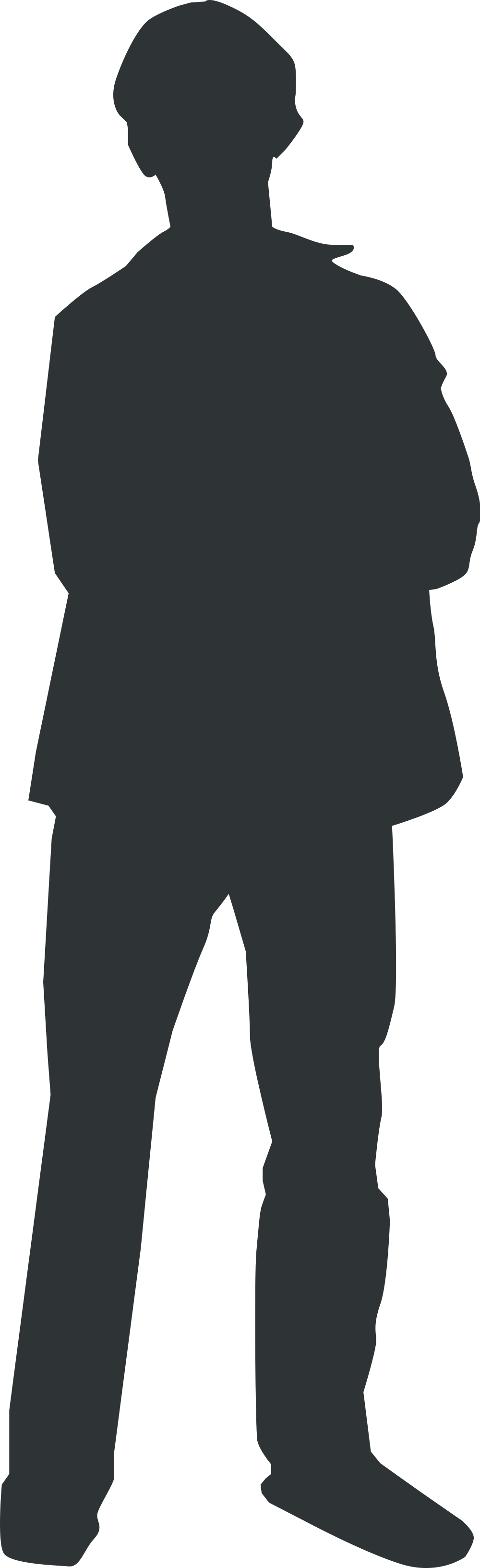 Shadow man png. File person outline svg