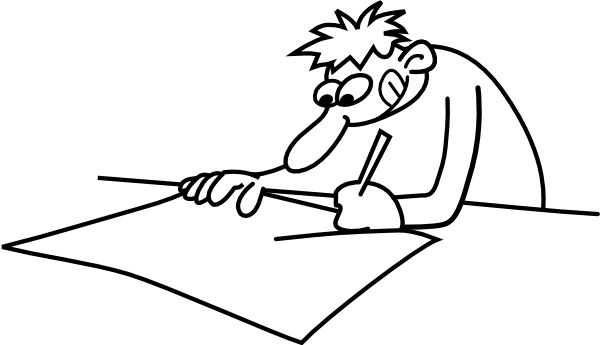 Drawing medium person. Man clip art at