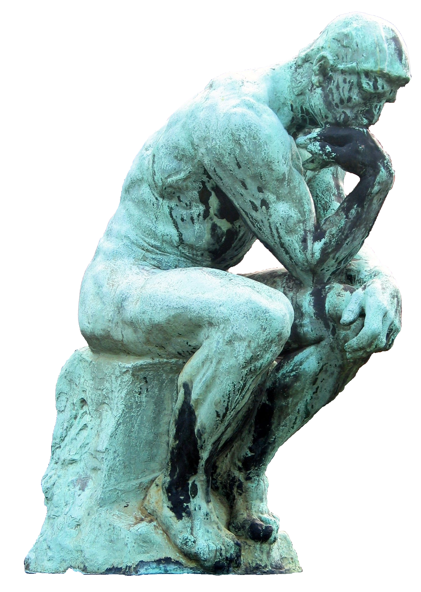 Thinking man statue png. File auguste rodin penseur