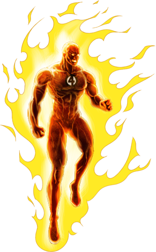 man with torch png