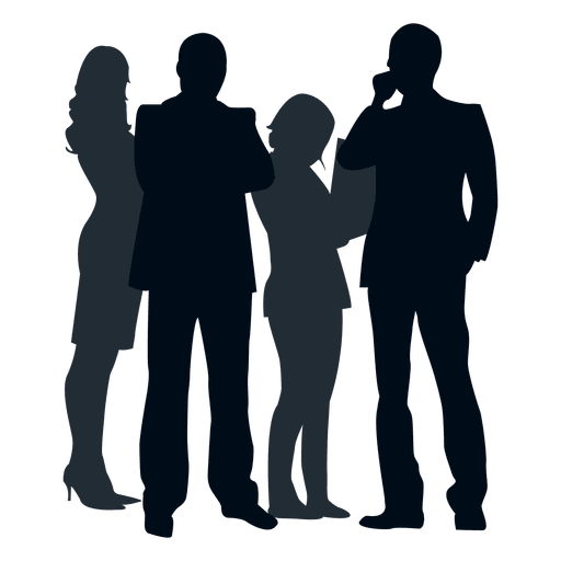People silhouette transparent png. Group vector image transparent library