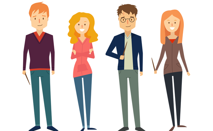 Human vector png. Character illustration styles