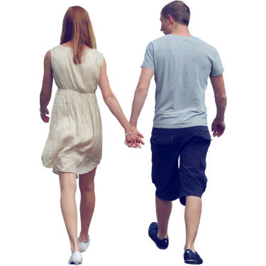 Human walking png. Couple holding hands people