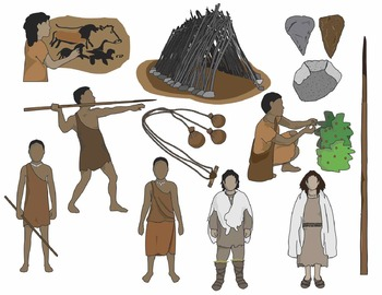 Hut clipart early human. Humans clip art paleolithic