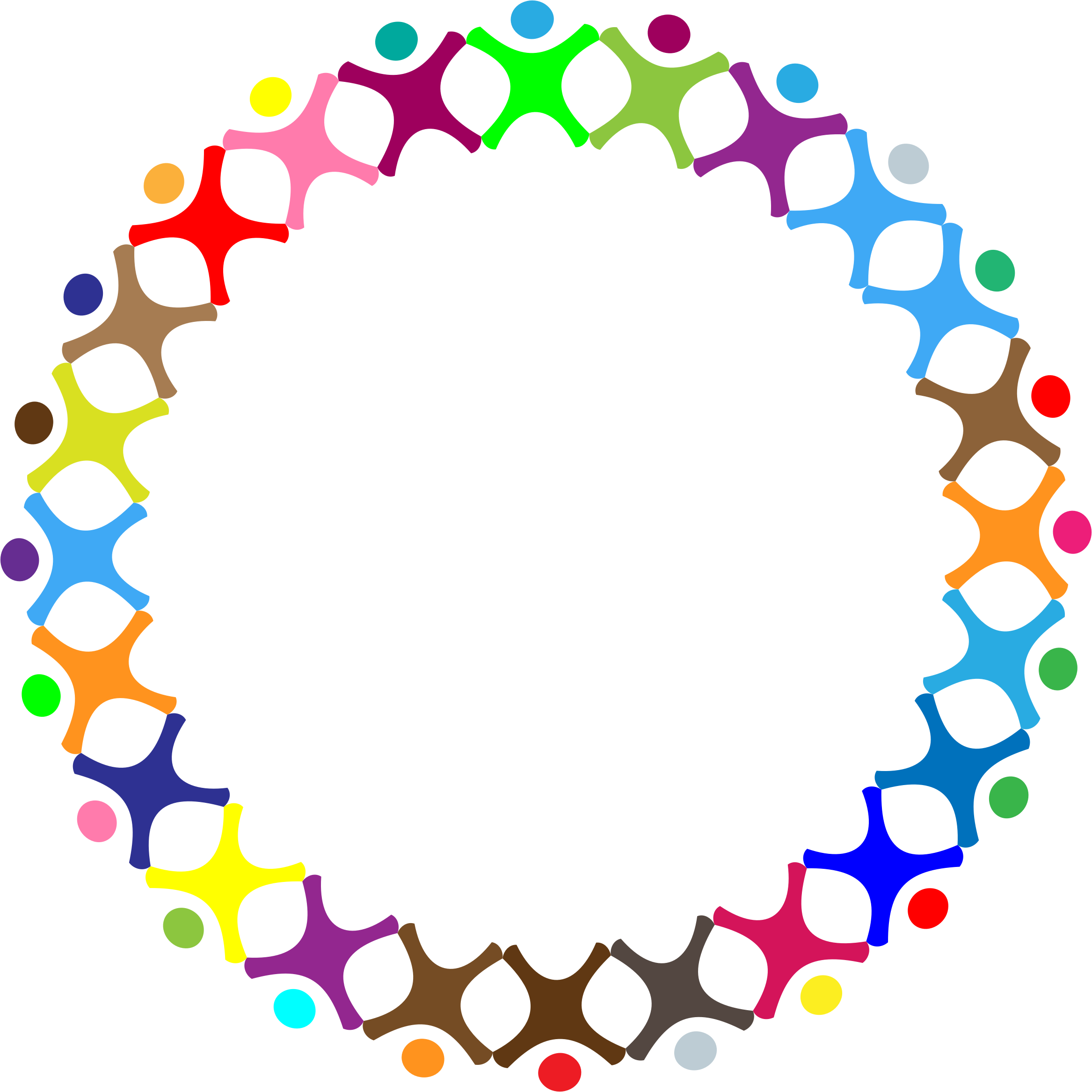 Abstract circle png. Clipart people prismatic big
