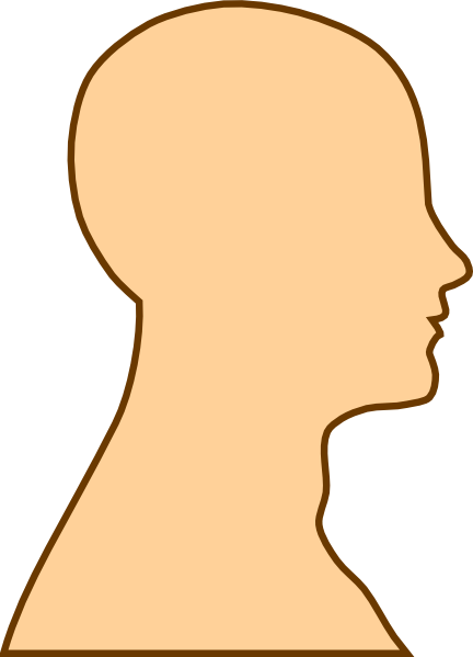 Humans clipart face. Side view silhouette at