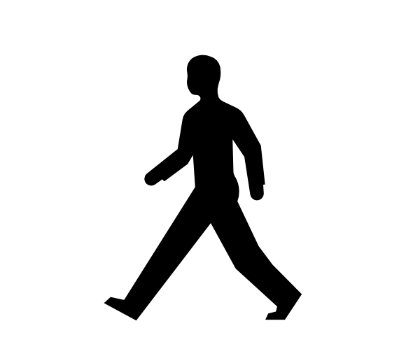 Black people walking png. Free human figure clipart