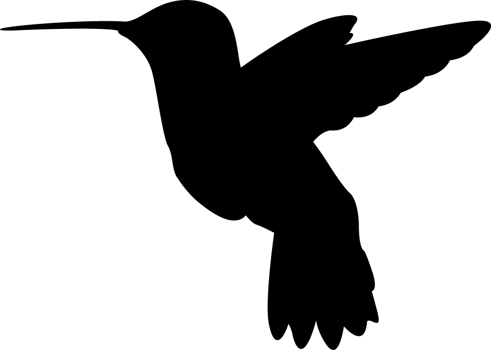Hummingbird clipart decal. Silhouette wall