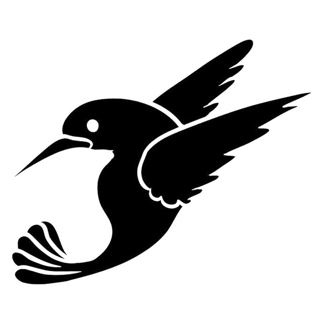 Hummingbird clipart decal. Cm cute flying