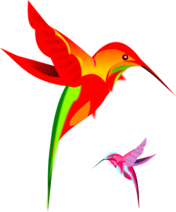 Hummingbird clipart rufous hummingbird. Kaleidoscope clip art vector