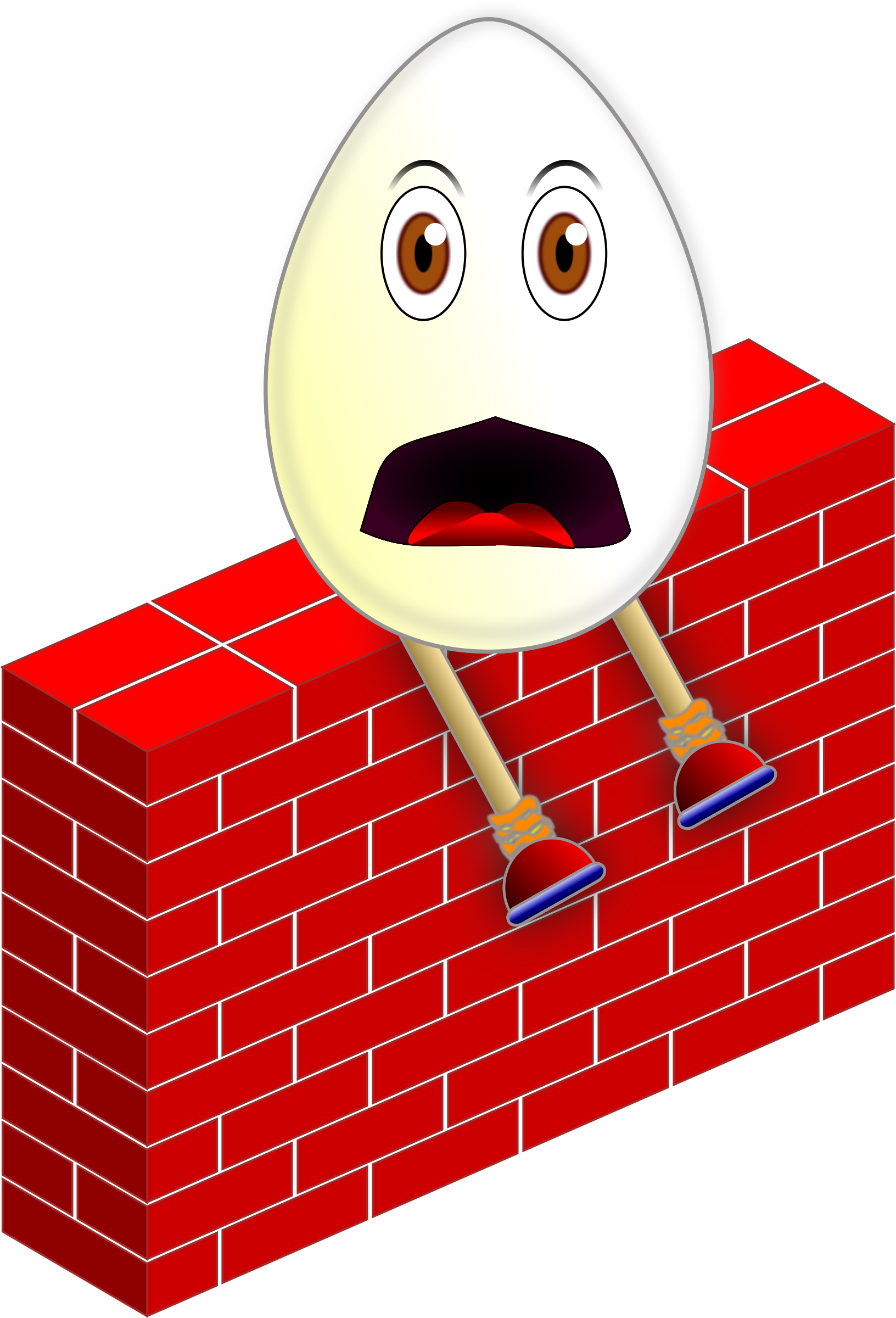 Humpty dumpty clipart original. On a wall big