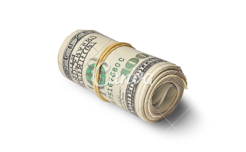 Hundred dollar bills png. One photos by canva