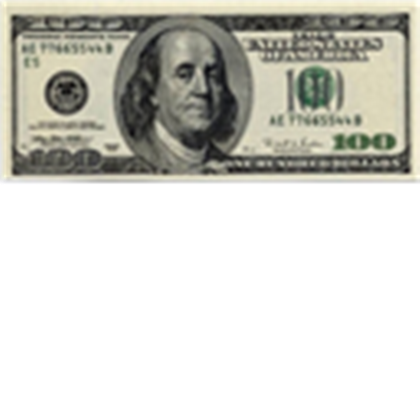 Hundred dollar bills png. One bill roblox onehundreddollarbill