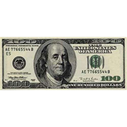 Hundred dollar bills png. One bill american money
