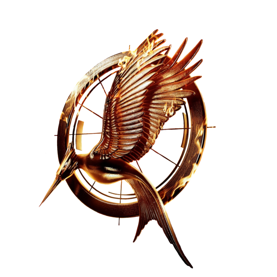 Hunger games catching fire logo png. Movie transparent with ring