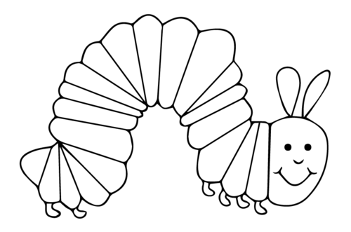 Hungry caterpillar plum png black and white. Inspired clipart by highfive
