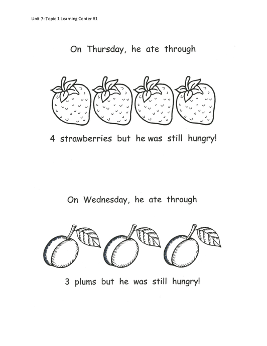 Hungry caterpillar plum png black and white. Supplemental curriculum unit forchildren