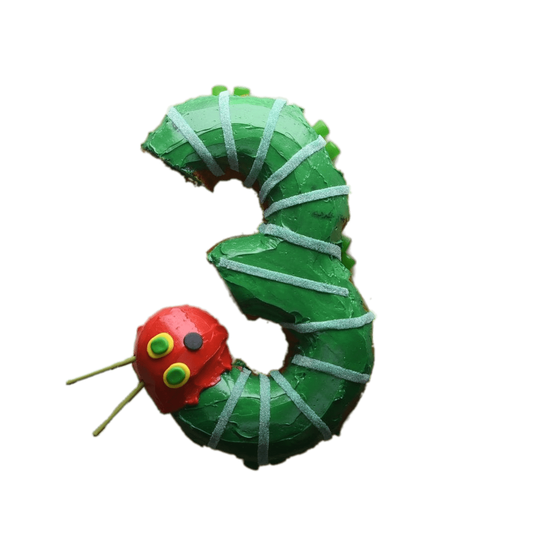 The hungry caterpillar png. Very number cake transparent