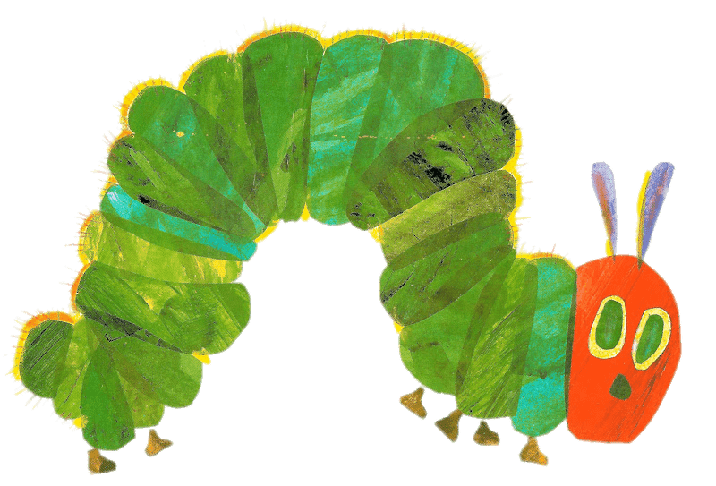 Hungry caterpillar png black and white. The very transparent stickpng