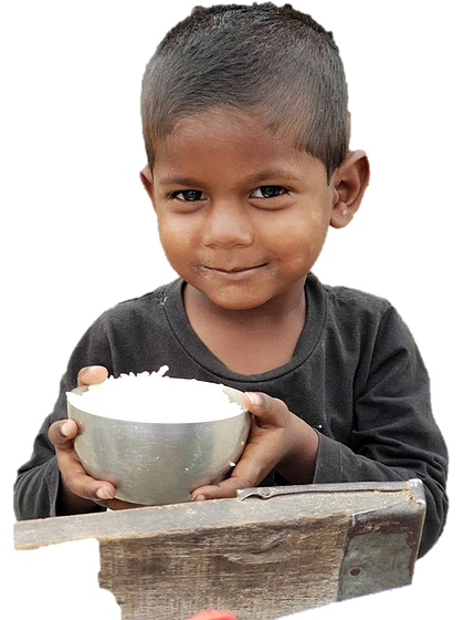 Hungry children png. Feeding india is on