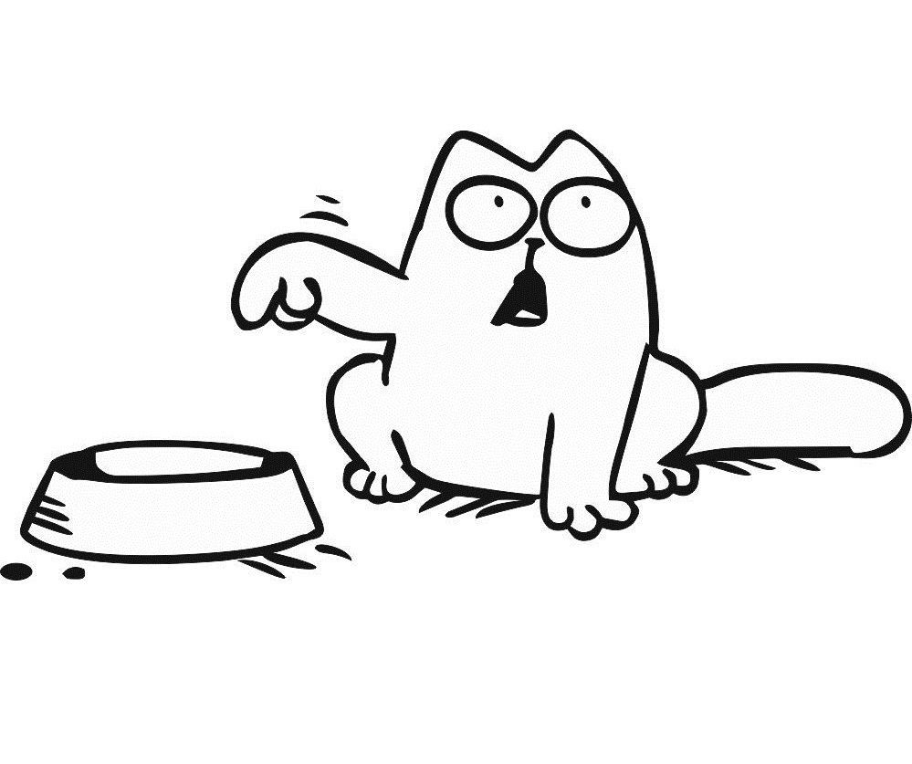 Hungry clipart full. Cat typegoodies me
