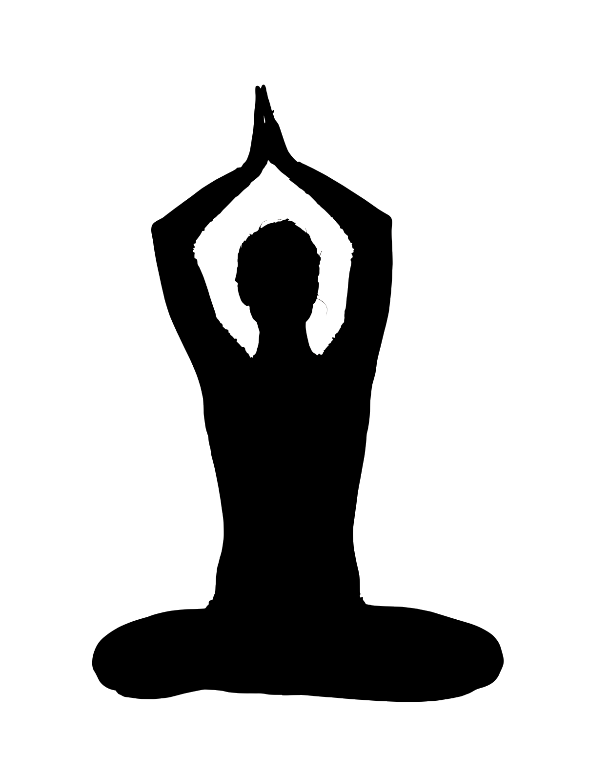 Free healthy people cliparts. Yoga clipart jpg black and white