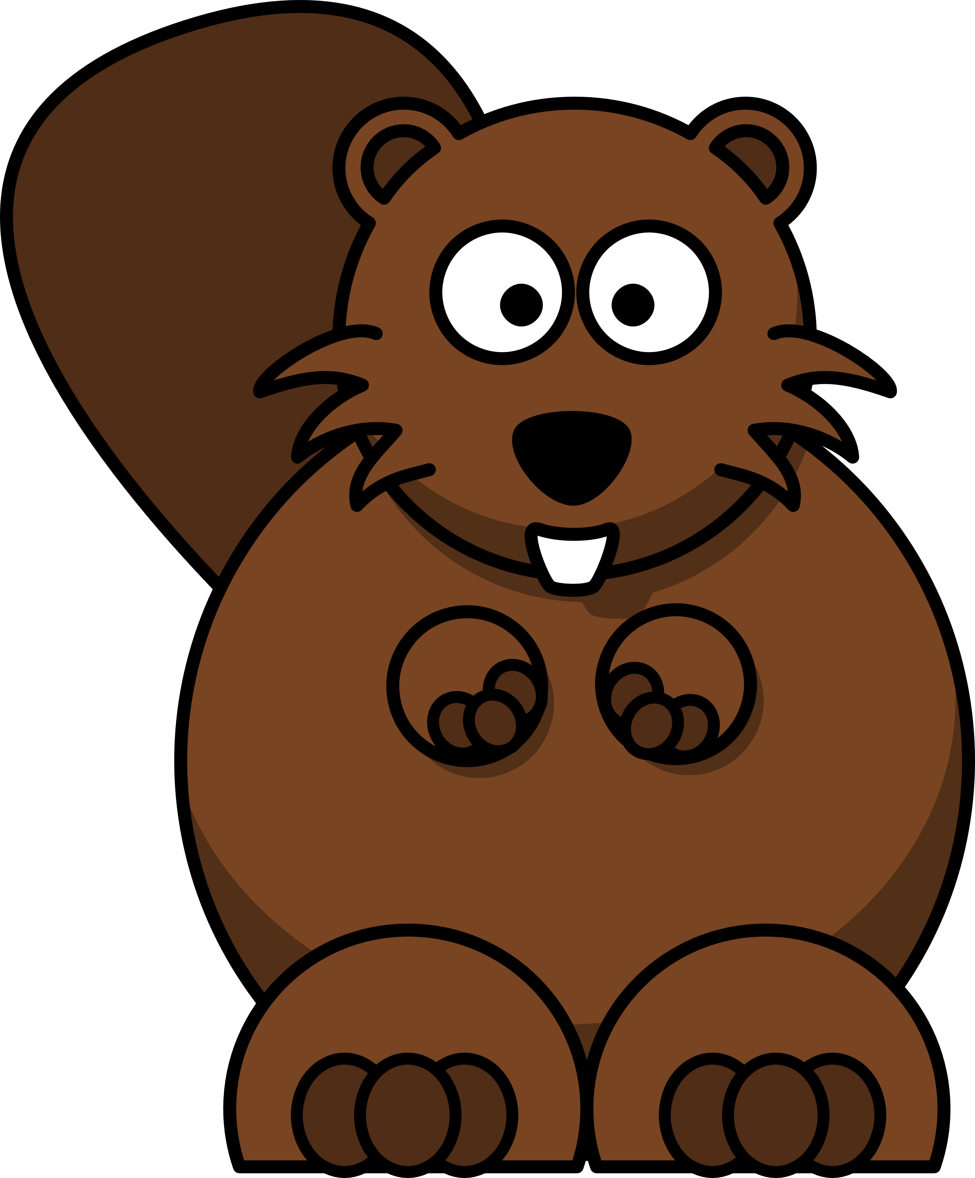 Free hunting cartoon cliparts. Beaver clipart beaver family image black and white download