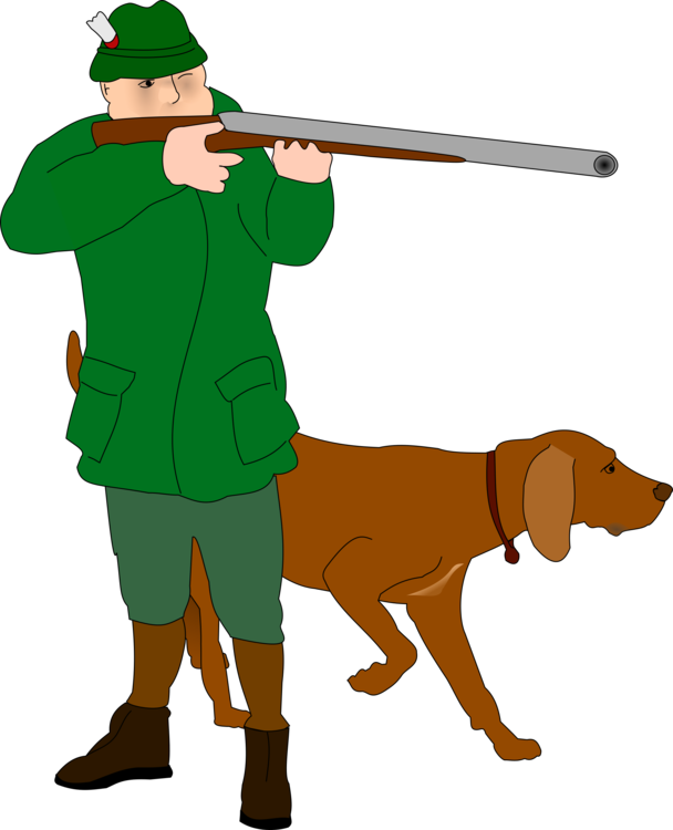 Hunting clipart deer rifle. Dog waterfowl free commercial