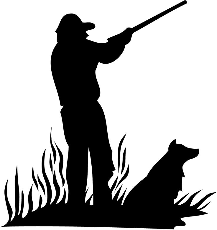 Hunt clipart transparent. Duck hunting silhouette at
