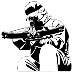 Hunter clipart crossbow. Western recreation decal decals