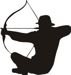 Hunter clipart crossbow. Silhouette at getdrawings com
