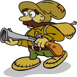 Hunter clipart pioneer. Scout andy fox and