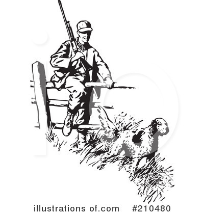 Hunter clipart pioneer. Pencil and in color