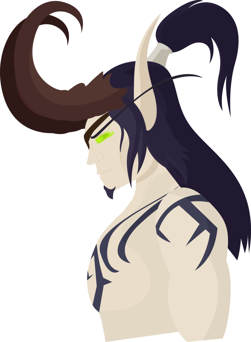 Horns vector demon. Annihilan the hunter by