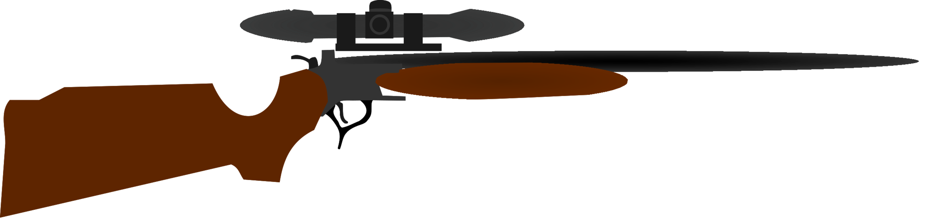 Shooting clipart real gun. Rifle hunting weapon firearm