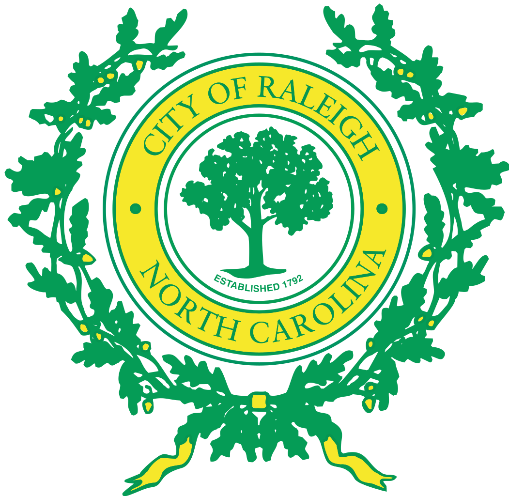File seal of raleigh.  image stock