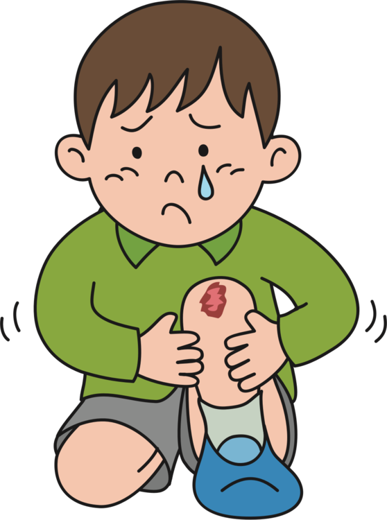 Knee injury kneeling crying. Pain clipart png free download
